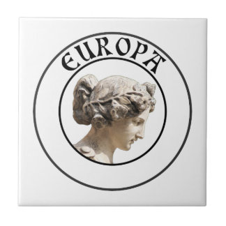 Europa: Be Proud to Show your Euro Roots! Small Square Tile