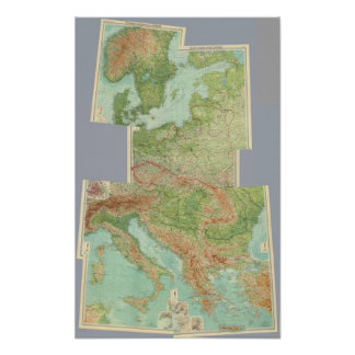 Europa Central compuesto Poster