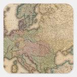 Europa compuesta 2 pegatina cuadrada