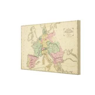 Europa continental impresión en lona estirada