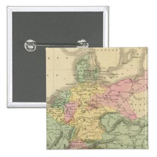 Europa continental pin cuadrado