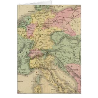 Europa continental tarjeta de felicitación