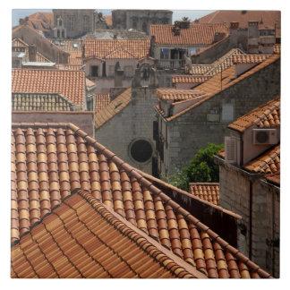 Europa, Croacia. Ciudad emparedada medieval de 2 Azulejo Cuadrado Grande