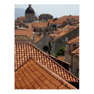 Europa, Croacia. Ciudad emparedada medieval de 2 Postales