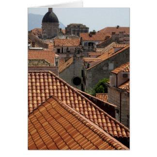 Europa, Croacia. Ciudad emparedada medieval de 2 Tarjeta De Felicitación