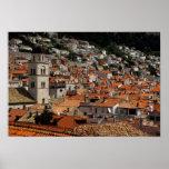 Europa, Croacia. Ciudad emparedada medieval de Poster