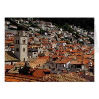Europa, Croacia. Ciudad emparedada medieval de Tarjeta De Felicitación