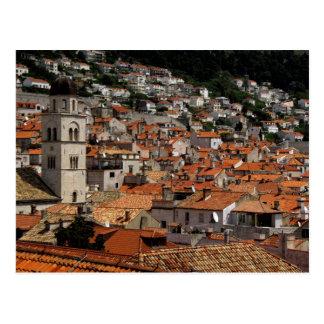 Europa, Croacia. Ciudad emparedada medieval de Tarjeta Postal