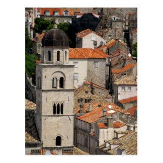 Europa, Croacia. Ciudad emparedada medieval de Tarjetas Postales