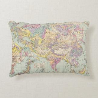 Europa de Asien u - mapa del atlas de Asia y de Cojín Decorativo