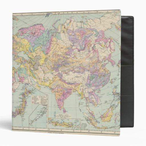Europa de Asien u - mapa del atlas de Asia y de Eu