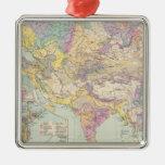 Europa de Asien u - mapa del atlas de Asia y de Eu Adorno De Navidad