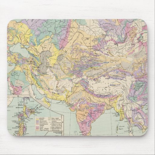Europa de Asien u - mapa del atlas de Asia y de Eu Tapete De Ratón