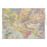 Europa de Asien u - mapa del atlas de Asia y de Eu Tarjetas