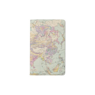Europa de Asien u - mapa del atlas de Asia y de Funda Para Libreta Y Libreta Pequeña Moleskine