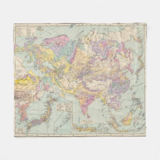 Europa de Asien u - mapa del atlas de Asia y de Manta De Forro Polar