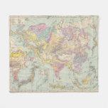Europa de Asien u - mapa del atlas de Asia y de Manta Polar
