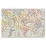 Europa de Asien u - mapa del atlas de Asia y de Papel De Seda