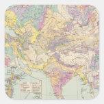 Europa de Asien u - mapa del atlas de Asia y de Colcomanias Cuadradases