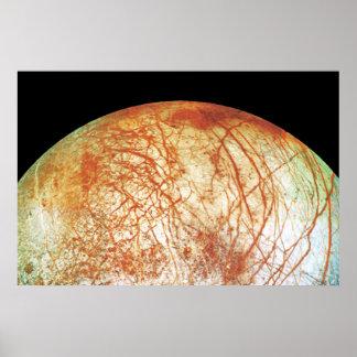 Europa de la luna de Júpiter Póster