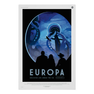 Europa, Discover Life Under the Ice Poster