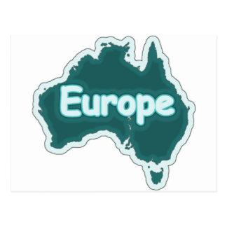¿Europa? Divertido estúpido Postales
