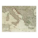 Europa dividió en sus reinos, imperios tarjeta postal