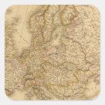 Europa en 1789 pegatinas cuadradases personalizadas