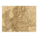 Europa en 1789 postales
