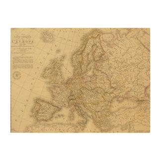 Europa en 1813 impresión en madera