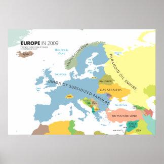 Europa en 2009 póster