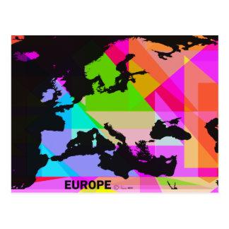 Europa en color - una postal