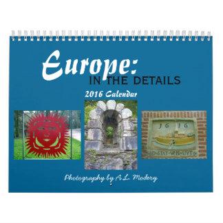 Europa: En los detalles 2016 Calendarios De Pared