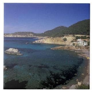 Europa, España, Balearics, Ibiza, Cala de Azulejo Cuadrado Grande