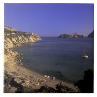 Europa, España, Balearics, Ibiza, d'Hort de Cala Azulejo Cuadrado Grande