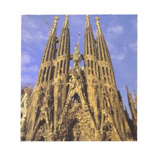 Europa, España, Barcelona, Sagrada Familia Bloc De Notas