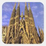Europa, España, Barcelona, Sagrada Familia Pegatina Cuadrada