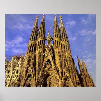 Europa, España, Barcelona, Sagrada Familia Póster