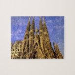Europa, España, Barcelona, Sagrada Familia Puzzle