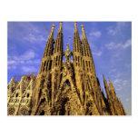 Europa, España, Barcelona, Sagrada Familia Tarjeta Postal