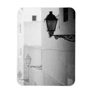 Europa, España, Mallorca. Streelights, Palma Imán Rectangular