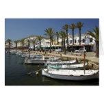 Europa, España, Minorca (aka Menorca). Pesca Tarjeta De Felicitación