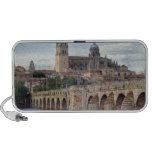 Europa, España, Salamanca. El puente romano encima Laptop Altavoz