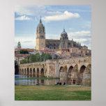 Europa, España, Salamanca. El puente romano encima Impresiones