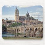Europa, España, Salamanca. El puente romano encima Alfombrilla De Ratón