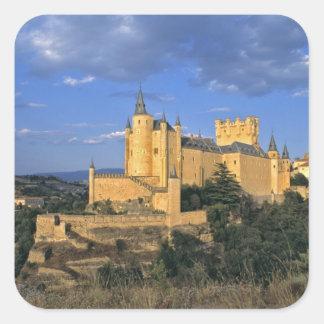 Europa, España, Segovia. El Alcazar, un mundo Pegatina Cuadrada