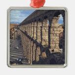 Europa, España, Segovia. La última luz echa Adorno Navideño Cuadrado De Metal