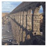 Europa, España, Segovia. La última luz echa sombra Azulejo Cuadrado Grande