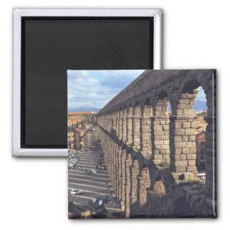 Europa, España, Segovia. La última luz echa sombra Imán Cuadrado