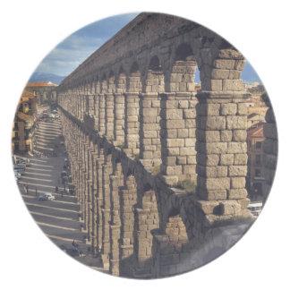 Europa, España, Segovia. La última luz echa sombra Platos De Comidas